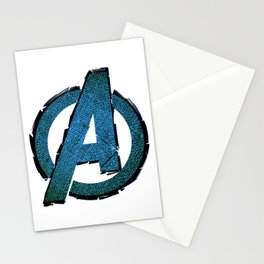 UNREAL PARTY 2012 AVENGERS LOGO FLYERS Stationery Cards