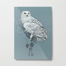Secrets of the Snowy Owl Metal Print