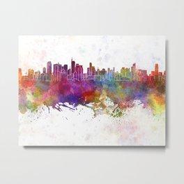 Makati skyline in watercolor background Metal Print