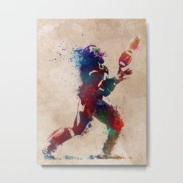 American football player 2 #sport Metal Print