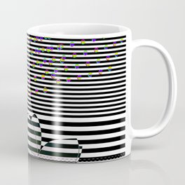 Lotus Flower and Stripes Disco Background Coffee Mug