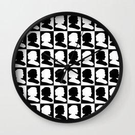 Marie Curie Scientist Silhouette Pop Art Wall Clock