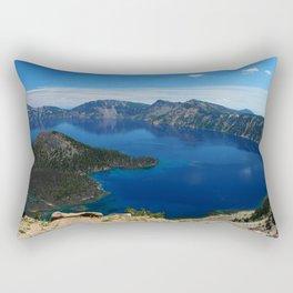 Wizard Island In The Lake Rectangular Pillow