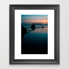 bandon beach blues. Framed Art Print