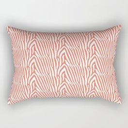CORAL ZEBRA PATTERN Rectangular Pillow