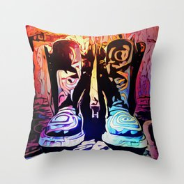 Dr Martens Rainbow Pop Throw Pillow