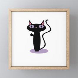 Standing Birdie Cat Framed Mini Art Print
