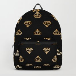 Black Gold Ombre Diamonds Backpack