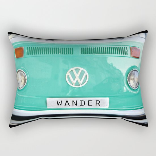 Wander wolkswagen. Summer dreams. Green Rectangular Pillow