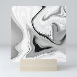 Black and White Modern Classic Marble Mini Art Print