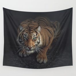 Crouching Tiger Wall Tapestry