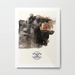 3-156 Infantry in Iraq Metal Print