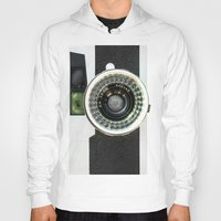 vintage camera Hoodies featuring Vintage camera by cafelab