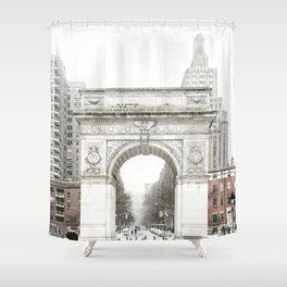 Washington Square Park Arch Shower Curtain