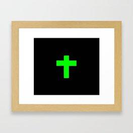 Christian Cross 11- green Framed Art Print
