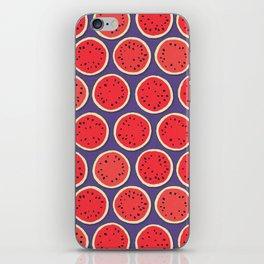watermelon polka purple iPhone Skin