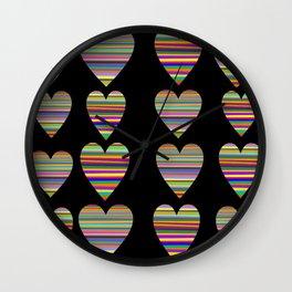 Black hate Wall Clock