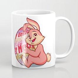 Easter bunny rabbit with pink egg Coffee Mug