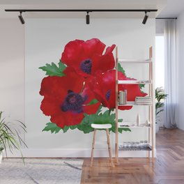 Red oriental poppies Wall Mural