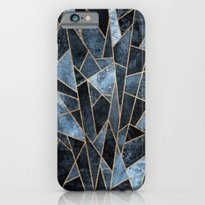 Shattered Soft Dark Blue iPhone 6 Slim Case