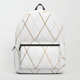 Abstract Gold Geometric Pattern Art Deco Style Backpack