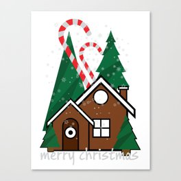 merry christmas vector illustration Canvas Print