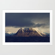 Lofoten Mountain Art Print