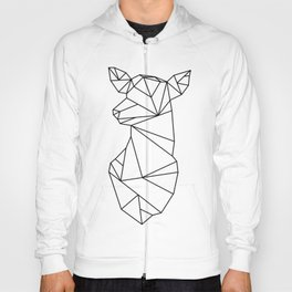 Geometric Doe (Black on White) Hoody