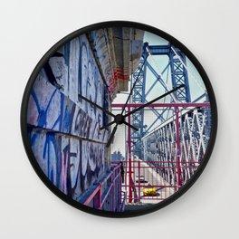 Williamsburg Bridge traffic Wall Clock