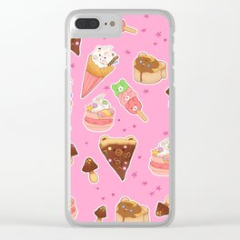 Kawaii Food Clear iPhone Case