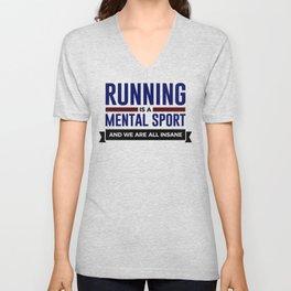 Running Is Mental Unisex V-Neck