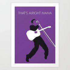No021 MY ELVIS Minimal Music poster Art Print