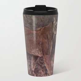 Vintage Puma Painting (1909) Travel Mug
