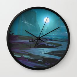 Dark Valley Wall Clock