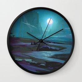 Dark Valley Wall Clock