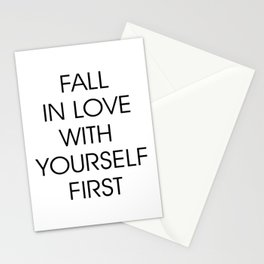 Fall in Love with Yourself First Stationery Cards