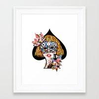 poker Framed Art Prints featuring Poker Face by Enkel Dika