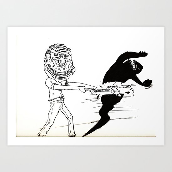 Break Yourself Down Art Print