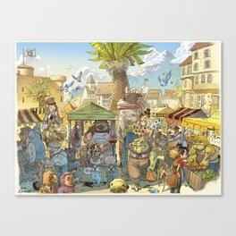 Le marché Canvas Print