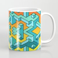 miles davis Mugs featuring Miles and Miles of Squares by Mister Phil