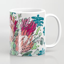 Bouquet of Proteas with Matisse Cutout Wallpaper Coffee Mug