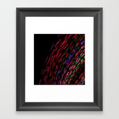 Coloured Rain Framed Art Print