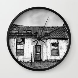 Old Tin Shack Wall Clock