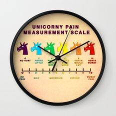 Unicorny Pain Measurement Scale Wall Clock