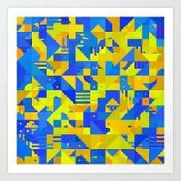 Random Shapes 4 Art Print
