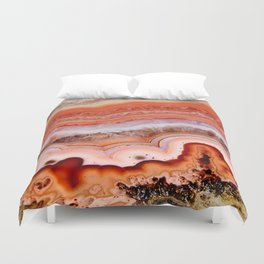 ORANGE AGATE Duvet Cover