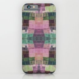Сolorful checkered pattern iPhone Case