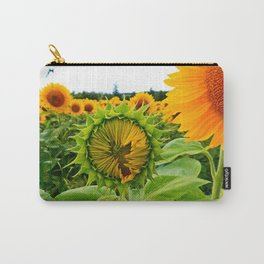 Sunflower Prepares to Unfold Itself Carry-All Pouch