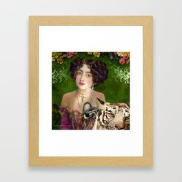The Madame Blanchefleur Apolline brings a White Tiger to the Feast of the Epiphany Framed Art Print