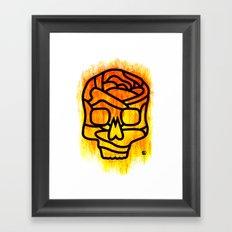 Skull Rose Framed Art Print